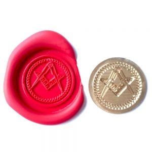 Regalia Store UK 013wax-300x300 Single Wax sealing coin design 013 Masonic Symbol, Freemasons Lodge design