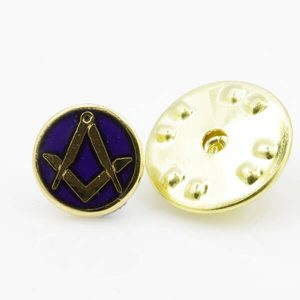 Regalia Store UK 1-103-300x300 Gilt Metal Square and Compass Royal Blue Enamel Lapel Pin