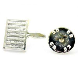 Regalia Store UK 1-109-300x300 Silver Metal Grid Iron Masonic Lapel Pin (or Badge)