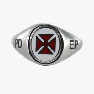 Regalia Store UK 1-119-300x300 Silver Knights Templar PD EP Masonic Ring – Fixed Head