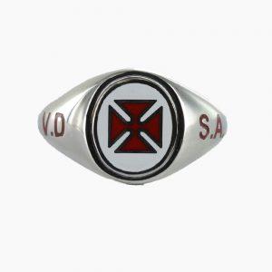 Regalia Store UK 1-121-300x300 Silver Knights Templar VD SA Masonic Ring – Fixed Head
