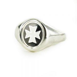 Regalia Store UK 1-143-300x300 Solid Silver Knights of Malta (KOM) Masonic Ring- Fixed Head