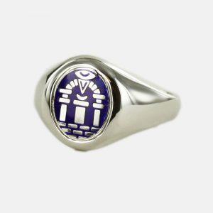 Regalia Store UK 1-153-300x300 Solid Silver Royal Arch Masonic Ring (Blue)- Fixed Head
