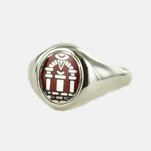Regalia Store UK 1-155-300x300 Solid Silver Royal Arch Masonic Ring (Red)- Fixed Head