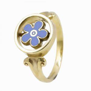 Regalia Store UK 1-165-300x300 9ct Yellow Gold Forget Me Not Masonic Ring
