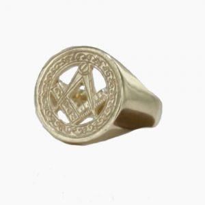 Regalia Store UK 1-167-300x300 9ct Yellow Gold Masonic Signet Ring – Square & Compass