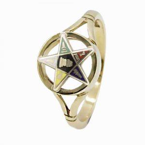 Regalia Store UK 1-169-300x300 9ct Yellow Gold Order of the Eastern Star Masonic Ring