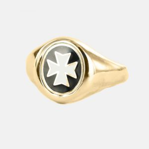 Regalia Store UK 1-178-300x300 Gold Knights of Malta Masonic Ring- Fixed Head