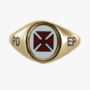 Regalia Store UK 1-180-300x300 Gold Knights Templar PD EP Masonic Ring – Fixed Head