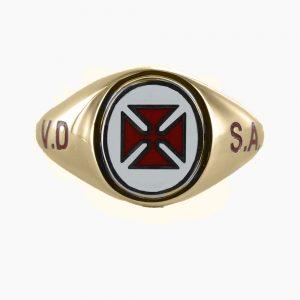Regalia Store UK 1-182-300x300 Gold Knights Templar VD SA Masonic Ring – Fixed Head