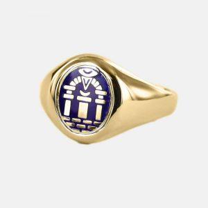 Regalia Store UK 1-192-300x300 Gold Royal Arch Masonic Ring (Blue)- Fixed Head