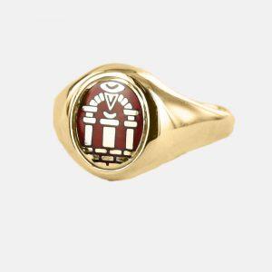Regalia Store UK 1-194-300x300 Gold Royal Arch Masonic Ring (Red)- Fixed Head