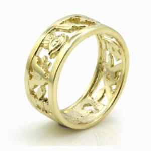 Regalia Store UK 1-223-300x300 Masonic Wedding Ring in Solid 9ct Yellow Gold – Heavy (8mm)