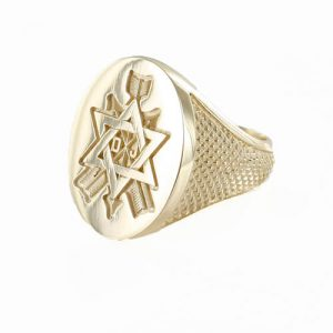 Regalia Store UK 1-229-300x300 Order of the Secret Monitor Solid 9ct Gold Masonic Ring