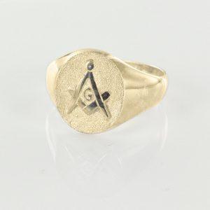 Regalia Store UK 1-231-300x300 Oval Head Gold Masonic Signet Ring Bearing the Square & Compass Symbol/Seal