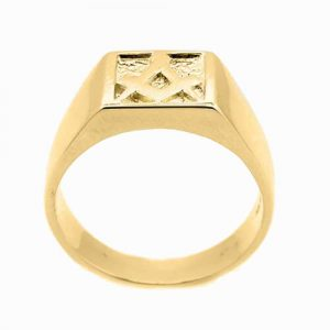Regalia Store UK 1-234-300x300 Solid 9ct Yellow Gold Masonic Signet Ring