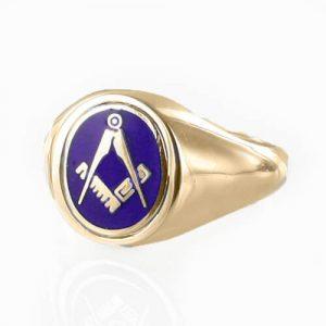 Regalia Store UK 1-270-300x300 Blue Reversible 9ct Gold Square and Compass Masonic Ring