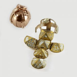 Regalia Store UK 1-29-300x300 9ct Yellow Gold & Silver Masonic Handmade Orb Fob Ball Cross Pendant- Medium