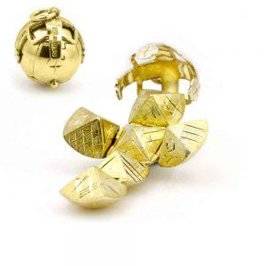 Regalia Store UK 1-31-300x300 9ct Yellow Gold Masonic Handmade Orb Fob Ball Cross Pendant- Medium