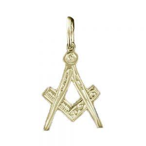 Regalia Store UK 1-35-300x300 Hallmarked 9ct Gold Masonic Square And Compass Pendant