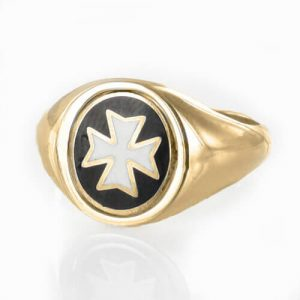 Regalia Store UK 1-368-300x300 Reversible 9ct Gold Knights of Malta Masonic Ring
