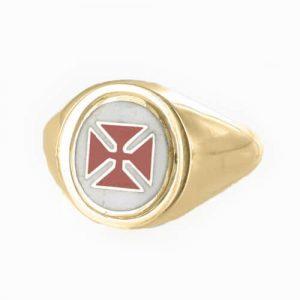 Regalia Store UK 1-370-300x300 Reversible 9ct Gold Knights Templar Masonic Ring