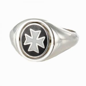 Regalia Store UK 1-388-300x300 Reversible Solid Silver Knights of Malta Masonic Ring