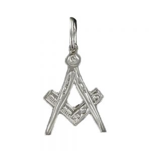 Regalia Store UK 1-45-300x300 Hallmarked Solid Silver Masonic Square And Compass Pendant