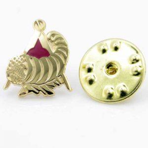 Regalia Store UK 1-80-300x300 Gilt Metal and Enamel Cornucopia Horn of Plenty Lapel Pin