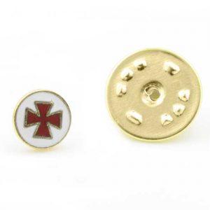 Regalia Store UK 1-82-300x300 Gilt Metal and Enamel Knights Templer Masonic Lapel Pin (or Badge)