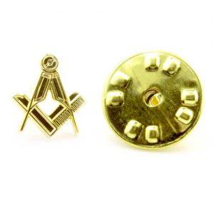 Regalia Store UK 1-99-300x300 Gilt Metal Square & Compass Masonic Lapel or Tie Pin