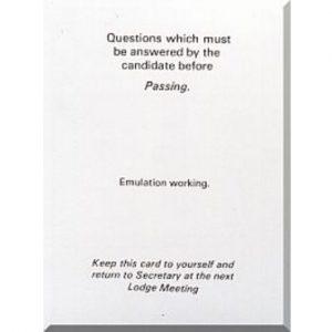 Regalia Store UK 10-300x300 Emulation Passing Question Card