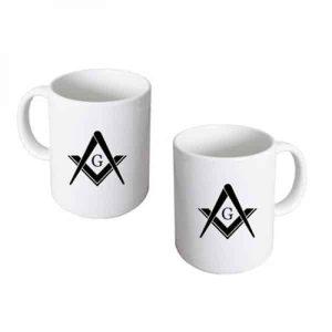 Regalia Store UK 10412masonic_mug_with_g-400-300x300 Masonic with G Design Ceramic Mug In Box
