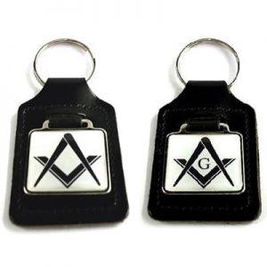 Regalia Store UK 12135masonickeyringwhitepair-300x300 Masonic White Key Ring (With or Without G)