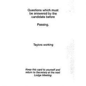Regalia Store UK 1334249152_53-300x300 Taylor's Passing Question Card