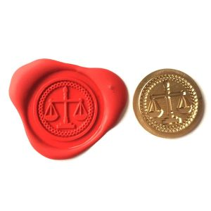 Regalia Store UK 148wax-300x300 Single Wax sealing coin design 148 Scales Of Justice, Judge Lawyer Solicitor design