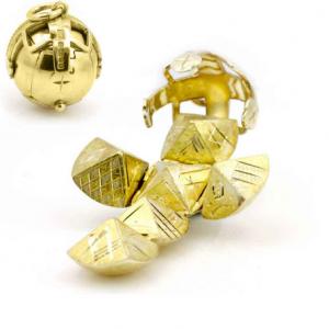 Regalia Store UK 3a-2-300x300 9ct Yellow Gold Masonic Handmade Orb Fob Ball Cross Pendant- Medium