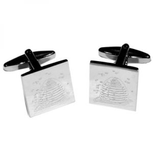 Regalia Store UK 5179boem4-300x300 Masonic Design & Bee Keepers Favourite, Bumble Beehive Bees Engraved Cufflinks