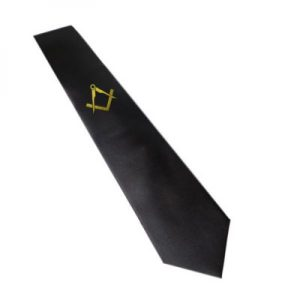 Regalia Store UK 8811masonic_tie_gold_without_g-300x300 Gold Masonic Design Black Neck Tie ( Without G)