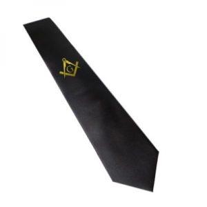 Regalia Store UK 8812masonic_tie_gold_with_g-300x300 Gold Masonic Design with G Black Neck Tie
