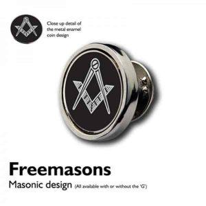 Regalia Store UK 9844masonicblacklapelpin-300x300 XLP-MasonicBlack (no G ) Coin Lapel Pin Badges