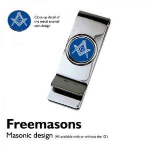 "Regalia Store UK 9956masonicbluemoneyclip-300x300 XMMC-MasonicBlue Coin Money Clip (with or without ""G"")"