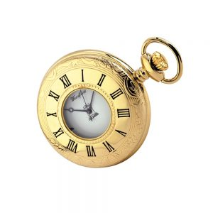 Regalia Store UK GP1213-Closed-300x300 Gold Plated Quartz Masonic Pocket Watch