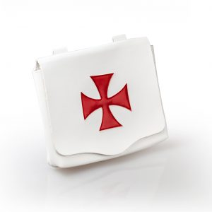 Regalia Store UK IMG_5242-300x300 Knights Templar Leather Alms Bag