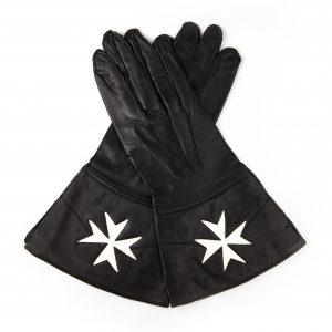 Regalia Store UK IMG_5270-300x300 Knights Of Malta Black Leather Guantlets