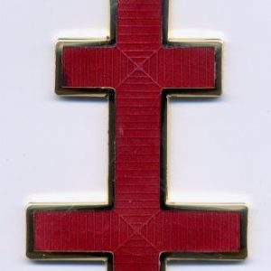 Regalia Store UK KT5-300x300 Knights Templar Patriarchal Cross Collarette Jewel Red Enamel
