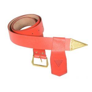 Regalia Store UK Knights-Templar-Belt-Frog-Red-300x300 Knight Templar Leather Belt & Frog (Red)