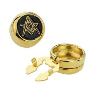 Regalia Store UK ajbc008-300x300 Gold Plated Masonic (With G) Design Cuff Button Covers a New Alternative to Cufflinks