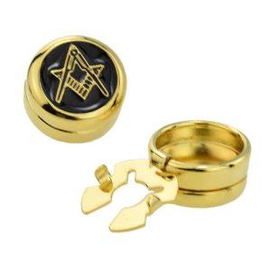 Regalia Store UK ajbc009-300x300 Gold Plated Masonic (No G) Design Cuff Button Covers a New Alternative to Cufflinks