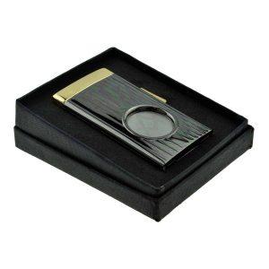 Regalia Store UK cu400-masonic_with_g-300x300 Gunmetal & Gold Spring Loaded 58 Ring Gauge Single Blade Masonic Design Cigar Cutter